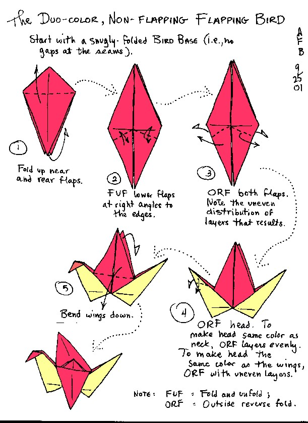 origami flapping crane instructions 171 embroidery amp origami