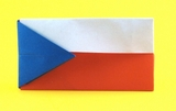 origami Flag of the Czech Republic diagrams