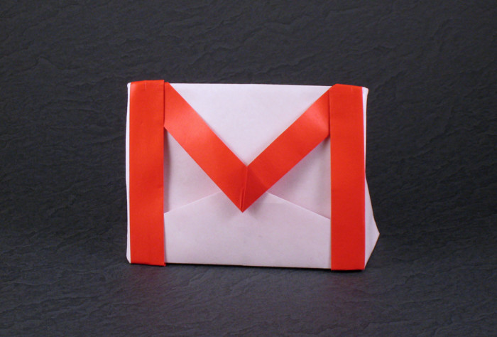 Origami Gmail by Gilad Aharoni folded by Gilad Aharoni