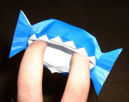 origami trick or treat Halloween diagrams