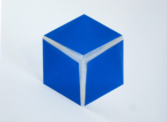 Origami 3D Cube illusion by Noah Ratcliffe folded by Gilad Aharoni
