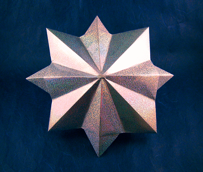 Origami Diamond by John Montroll folded by Gilad Aharoni