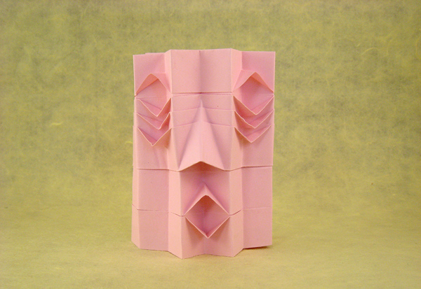 20 Rectangle Origami African Mask By Joel Stern Folded From A Letter Size Of Printing Paper