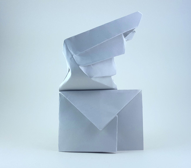 Repeat Origami UFO Envelope by JeremyShaferOrigami - You2Repeat | 572x650