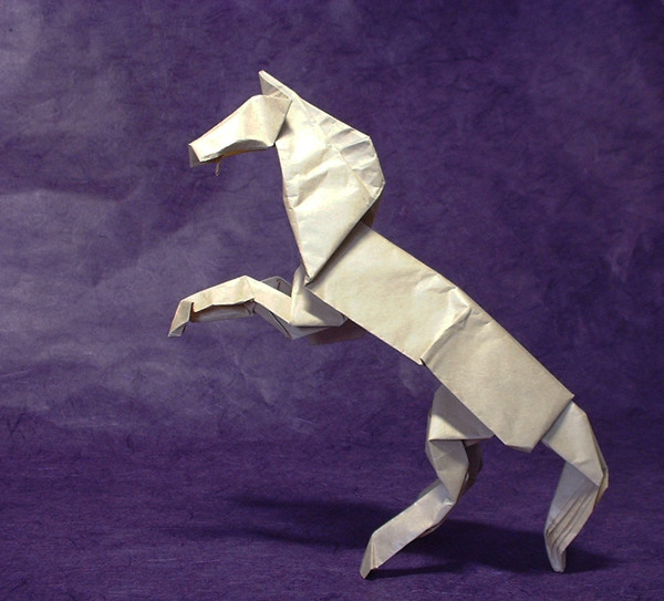 Origami Alamo stallion by Robert J. Lang folded by Gilad Aharoni