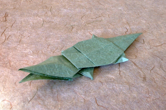 Origami Alligator by John Montroll folded by Gilad Aharoni