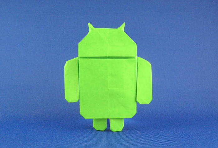Origami Google Android by Gerwin Sturm folded by Gilad Aharoni