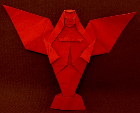 Origami Angel by Kawai Toyoaki folded by Gilad Aharoni