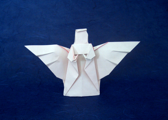 Origami Angel by John Montroll folded by Gilad Aharoni