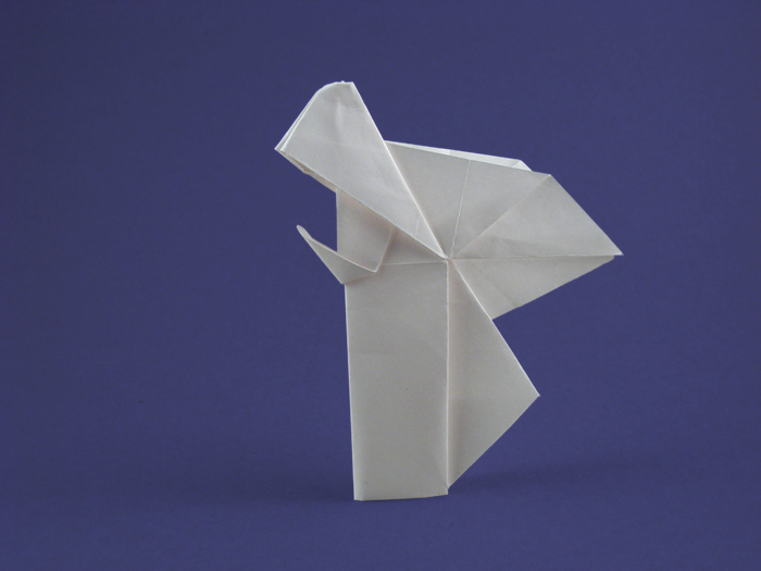 Origami Angel - praying by Niwa Taiko folded by Gilad Aharoni