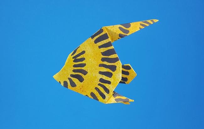 Origami Fish Instructions - YouTube | 413x650