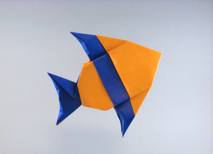 Origami Banded angelfish by Robert J. Lang folded by Gilad Aharoni on giladorigami.com