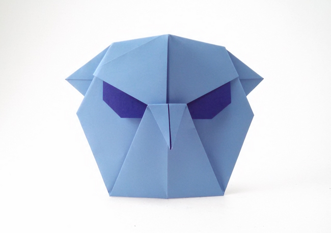 Origami Angry bird by Wayne Brown folded by Gilad Aharoni