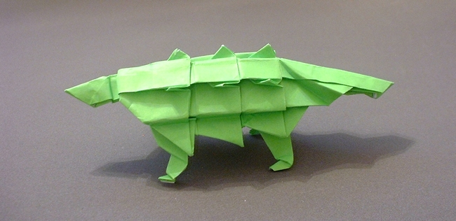 How To Make A Paper Dinosaur - Origami Dinosaur Easy And Fast ... | 316x650