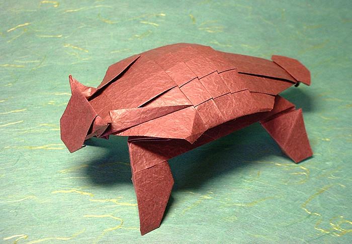 Fun Origami: Dinasaur | Paper Origami Guide | 345x450