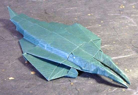 Origami Anomalocaris by Sasade Shinji folded by Gilad Aharoni