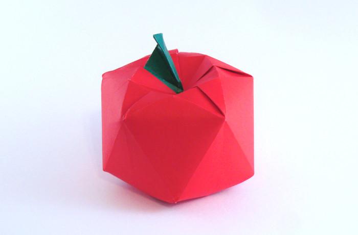 Origami apple favor | origami | pinterest.