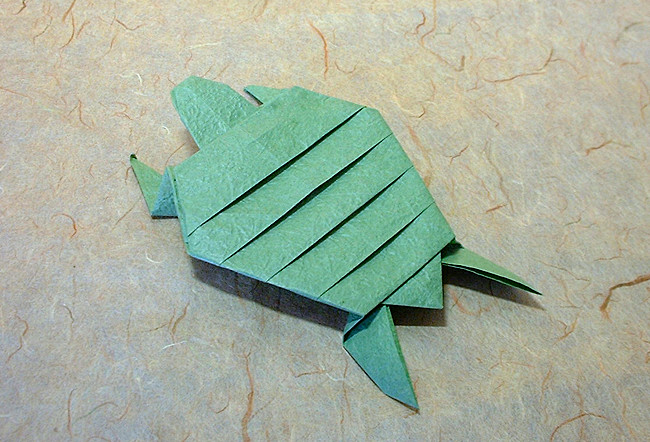 Origami Archelon by Fumiaki Kawahata folded by Gilad Aharoni