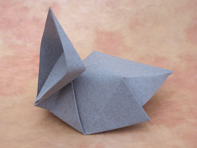 Origami Baby bird by Nick Robinson Wet-folded from a square of Strathmore art paper by Gilad Aharoni on giladorigami.com