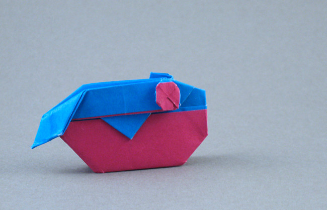 Origami Balloonfish by Seo Won Seon (Redpaper) folded by Gilad Aharoni