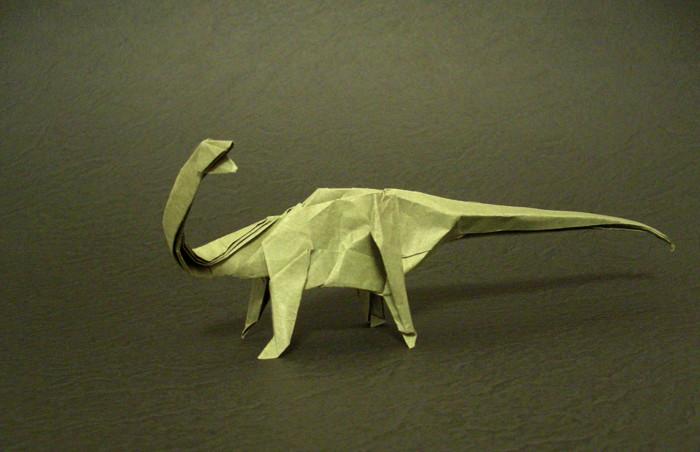 Origami Barosaurus Cebtus By Satoshi Kamiya Folded From A Square Of Trimaco Masking Paper Gilad