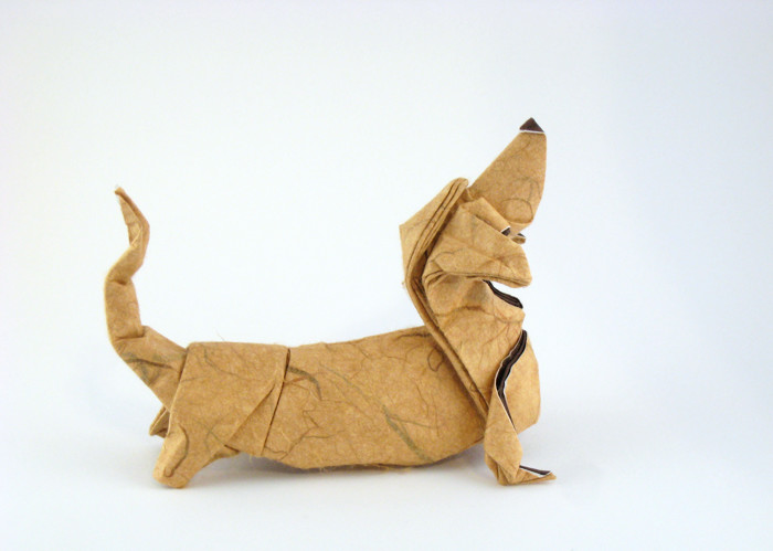 Origami Basset Hound by Quentin Trollip folded by Gilad Aharoni