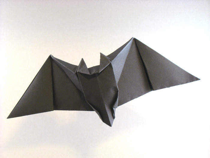 Origami Bat by Peter Engel Folded from a square of origami paper by Gilad Aharoni on giladorigami.com