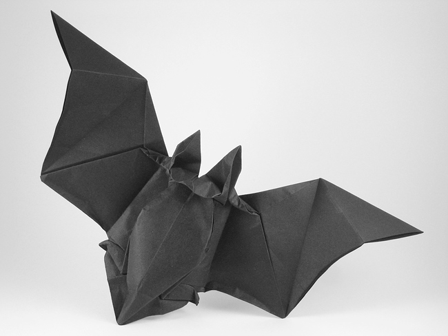 46 Square Origami Bat By Peter Engel Folded Gilad Aharoni On Giladorigami
