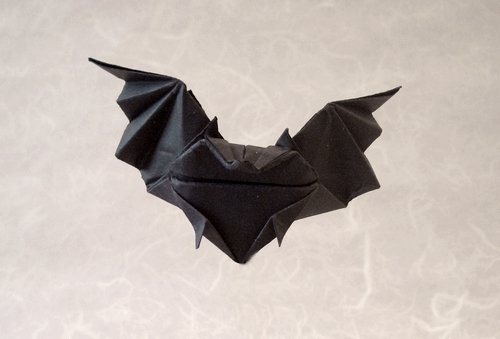 96 Square Origami Bat By Kunihiko Kasahara Folded From A Of Art Paper Gilad Aharoni On