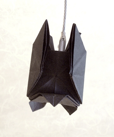 Origami Bat by Kunihiko Kasahara folded by Gilad Aharoni