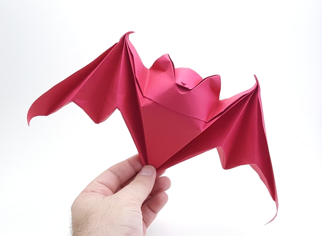 Origami Bat by Michael G. LaFosse folded by Gilad Aharoni on giladorigami.com