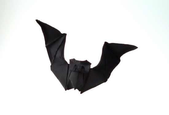Origami Bat by Angel Morollon Guallar folded by Gilad Aharoni