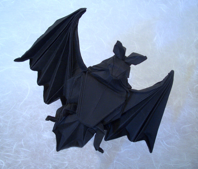 Origami Bat by Miyajima Noboru folded by Gilad Aharoni