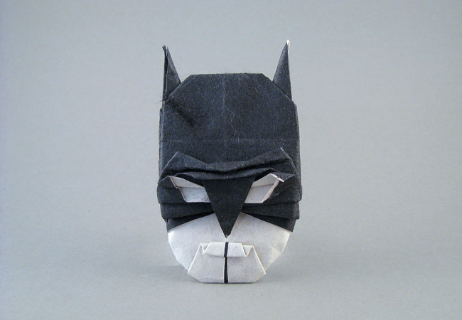 Origami Batman by Jhou Sian-Zong folded by Gilad Aharoni