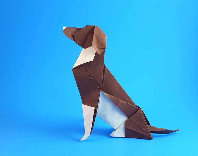Origami Beagle by Seth M. Friedman folded by Gilad Aharoni