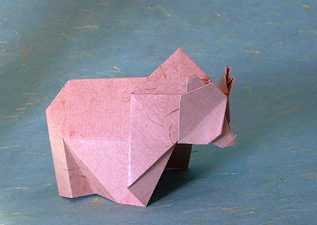 Origami Bear by Toshikazu Kawasaki folded by Gilad Aharoni