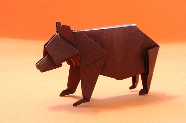 Origami Bear by John Montroll folded by Gilad Aharoni
