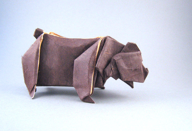 Origami Bear 2 by Jared Needle folded by Gilad Aharoni