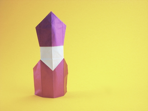 Origami Bishop by David Petty folded by Gilad Aharoni