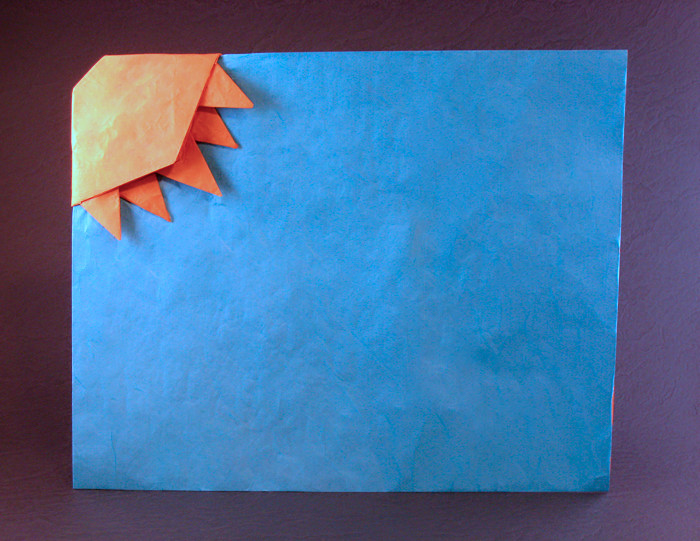 Origami Blue skies by Marc Kirschenbaum folded by Gilad Aharoni on giladorigami.com