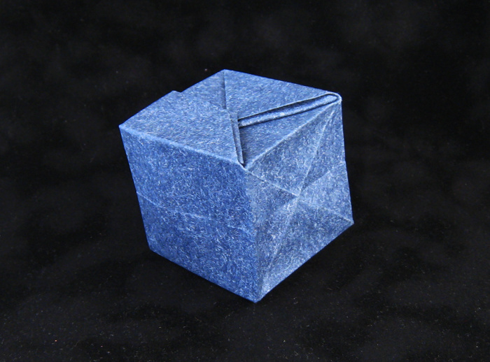 Origami Borg Cube by Andrew Pang Folded from a square of patterned paper by Gilad Aharoni on giladorigami.com