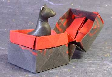 Origami Box with lid by David Brill folded by Gilad Aharoni on giladorigami.com