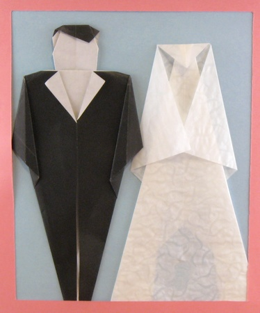 Origami Bride And Groom By Kunihiko Kasahara Folded Gilad Aharoni