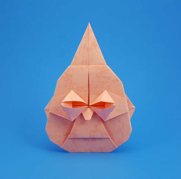 Nick Robinson 56 Square Origami Buddhas Head By Folded From A Of Textured Paper Gilad