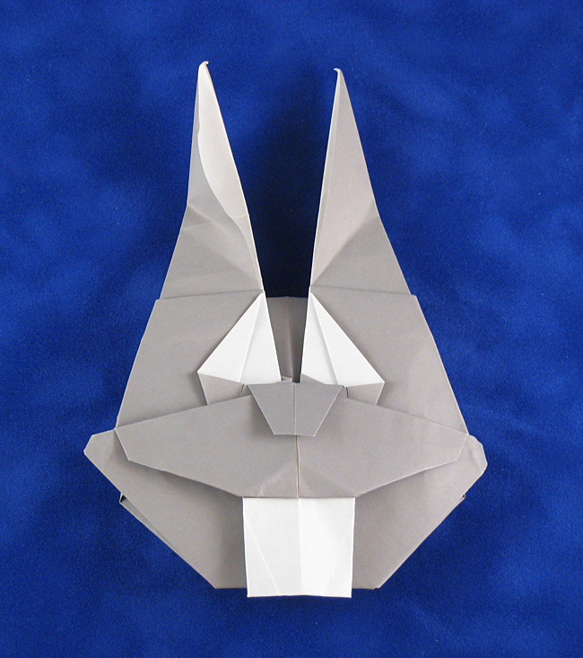 Origami Bugs Bunny by Sonny Fontana folded by Gilad Aharoni