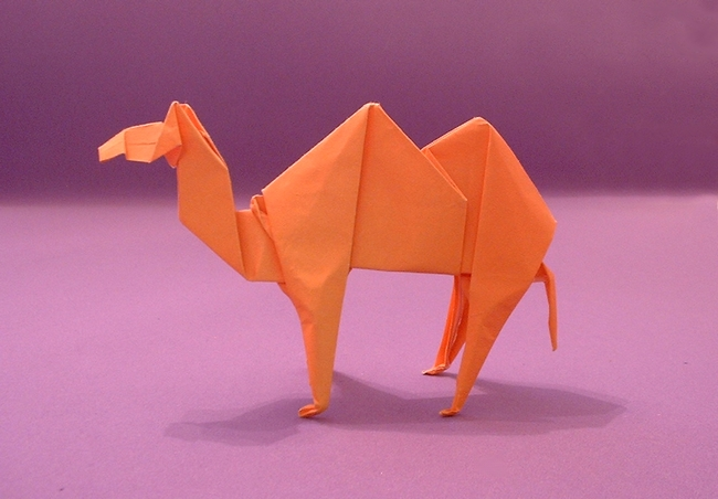 Origami Camel by John Montroll folded by Gilad Aharoni