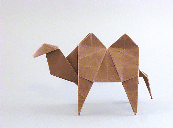 Origami Camel by Miyajima Noboru Folded from a square of origami paper by Gilad Aharoni on giladorigami.com