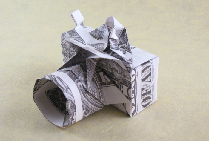 Origami Camera by Won Park folded by Gilad Aharoni