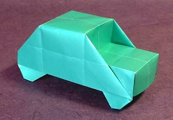 Origami Car by Kosho Uchiyama folded by Gilad Aharoni on giladorigami.com