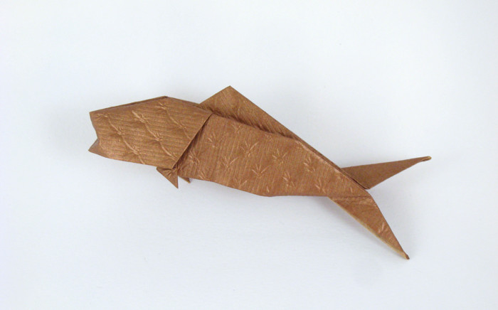 Origami Fish By Jun Maekawa Folded From A Rectangle Of Scrap Booking Paper Gilad